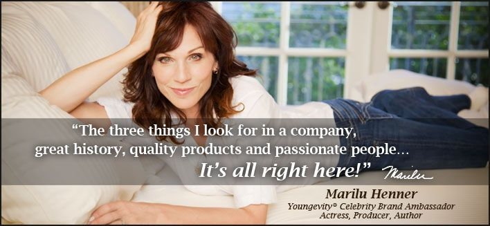 Marilu Henner: Youngevity Celebrity Brand Ambassador, Actress, Producer, Author